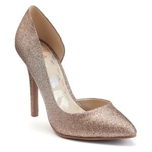 Juicy Couture Cyra D'Orsay Glitter Stiletto Heels
